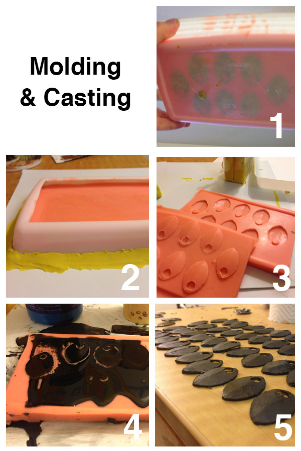 Molding and casting the scales